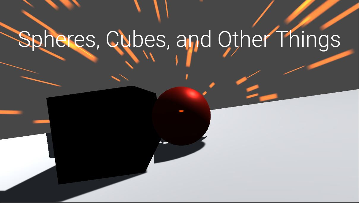 "The cover art for ""Spheres, Cubes, and Other Things""."