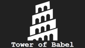 The Tower of Babel logo.