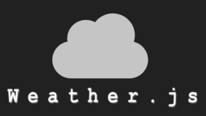 The Weather.js logo.